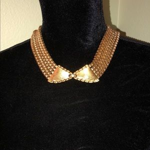 Vintage MONET Gold Five Chained Necklace
